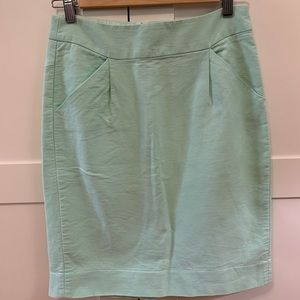 J.Crew teal pencil skirt